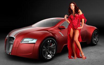 Car & girl 4